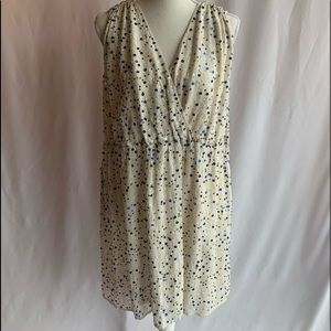 French Connection White Dress with Sequins, US 8